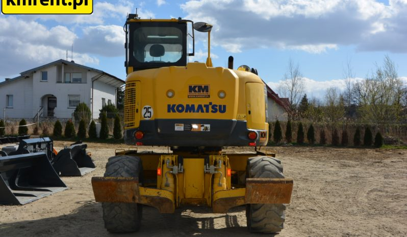 KOMATSU PW 118MR-8 KOPARKA KOŁOWA full